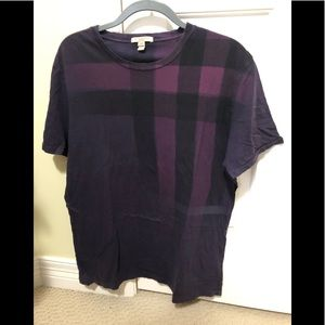 Burberry Brit Designer purple nova check shirt XL